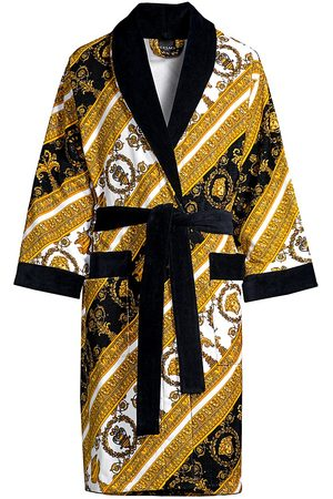 VERSACE Men's Baroque Cotton Terry Bathrobe - - Size Small
