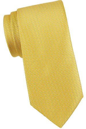 Charvet Men's Geometric-Print Silk Tie