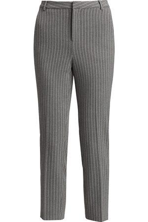 L'Agence Women's Ludivine Pinstripe Cropped Pants - - Size 10
