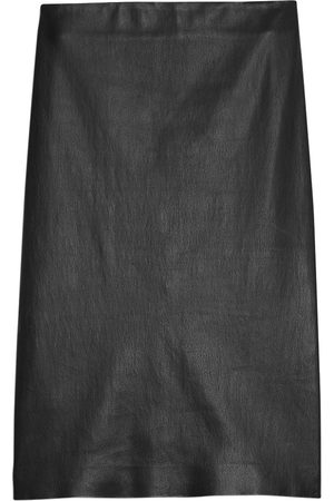 THEORY Women's Skinny Leather Pencil Skirt - - Size 12