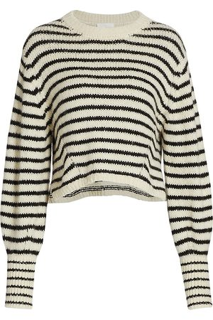 ELEVEN SIX Women's Kara Stripe Knit Sweater - - Size Large