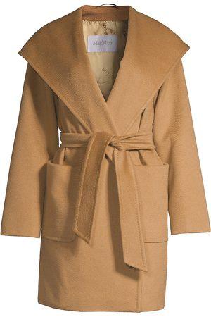 Max Mara Women's Rialto Hooded Wool Wrap Jacket - - Size 12