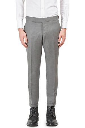 Thom Browne Men's Low Rise Skinny-Fit Wool Pants - - Size 4 (XL)