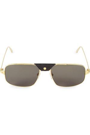 Cartier Men's 60MM Square Browline Sunglasses