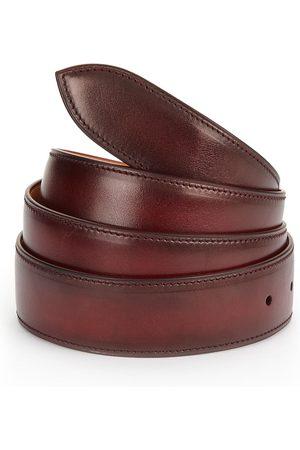 CORTHAY Men's Lie De Vin Patina Leather Belt - - Size XL (120)