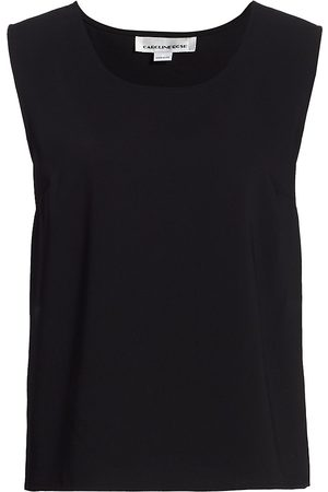 Caroline Rose Women's Suzette Crepe Sleeveless Blouse - - Size Medium