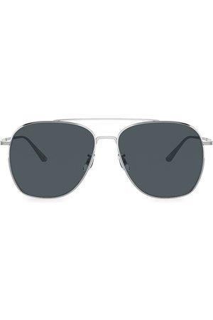 Oliver Peoples Men's Ellerston 58MM Aviator Sunglasses