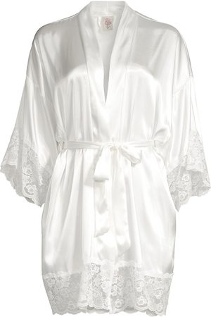 In Bloom Women's The Bride Satin & Lace Wrapper Robe - - Size XL