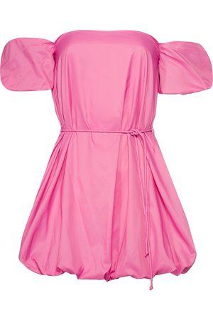 Staud Women Strapless Dresses - Ash Puff Sleeve Off-The-Shoulder Mini Dress