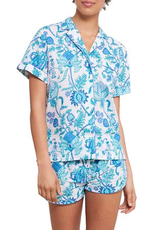 Roller Rabbit Women Pajamas - Women's Amanda Lulu 2-Piece Pajama Set - Turquoise - Size XL