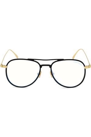 Tom Ford Men's 52MM Blue Block Aviator Optical Glasses