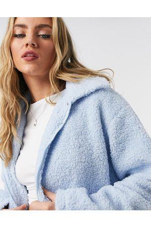Daisy Street Trucker jacket with pocket detail in teddy fleece