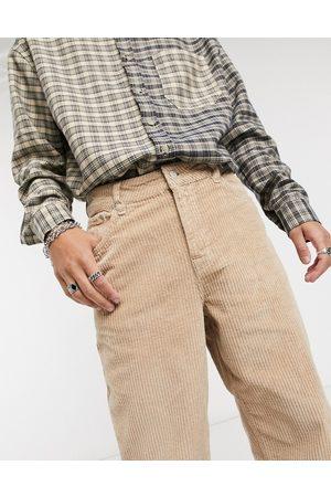 ASOS Baggy corduroy jeans in tan