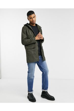 French Connection Parkas - Coated hooded fleece lined parka coat in khaki