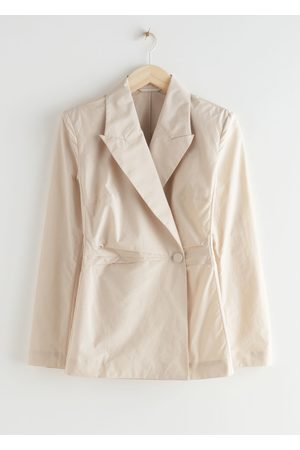 & OTHER STORIES Single Button Blazer Blouse