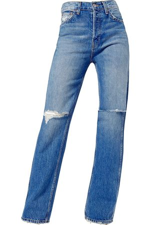 RE/DONE Women's High-Rise Distressed Loose Slim Jeans - - Size 28 (6)