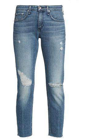 RAG&BONE Women's Dre Low-Rise Slim Boyfriend Jeans - Aviation - Size 31