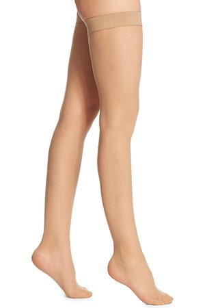 Wolford Women's Individual 10 Sheer Thigh Highs - - Size Large