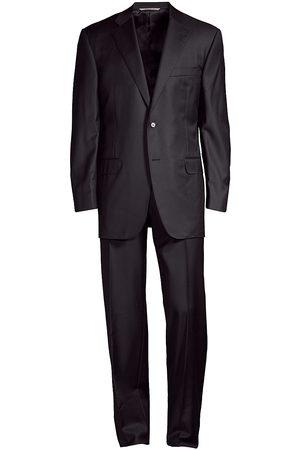 CANALI Men's Wool Two-Button Suit - - Size 52 (42) L