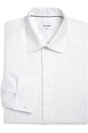 Eton Men's Slim-Fit Formal Diamond Weave Dress Shirt - - Size 18