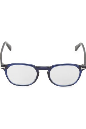 Tom Ford Men's 50MM Round Blue Block Filter Optical Glasses