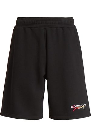 Givenchy Men's Degrade Logo Signature Shorts - - Size Small