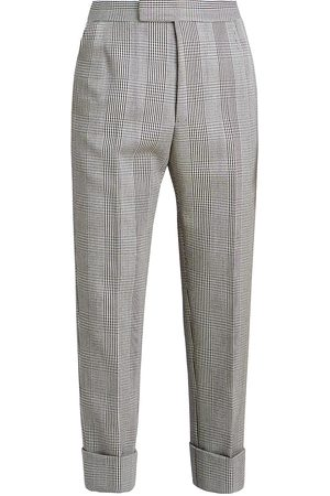 Thom Browne Men's Classic Backstrap Houndstooth Cropped Trousers - - Size 3 (35-36)