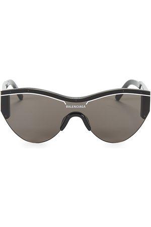 Balenciaga Men's 99MM Rounded Shield Sunglasses