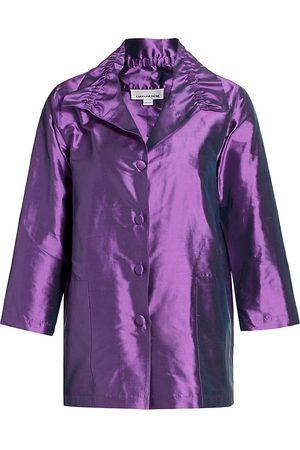 Caroline Rose Women's Silk Shantung Shirt - - Size XL