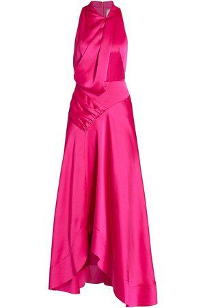Acler Women's Palmera Satin Draped Dress - - Size 10