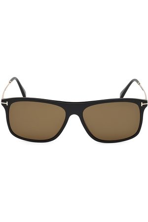 Tom Ford Men Square - Men's Max 57MM Square Sunglasses