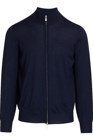 Brunello Cucinelli Men's Tipping Full-Zip Sweater - - Size 54 (44)