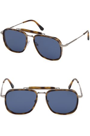 Tom Ford Men's Huck 58MM Square Aviator Sunglasses