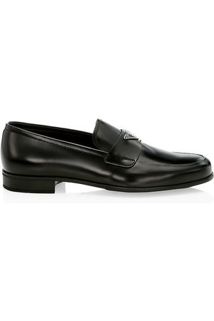 Prada Men's Spazzolato Fume Leather Dress Shoes - - Size 12 UK (13 US)