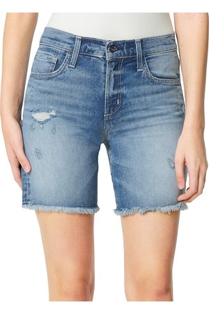 Joes Jeans Women Bermudas - Women's The Frayed Bermuda Shorts - Anything But - Size Denim: 31