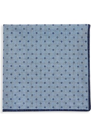 Brunello Cucinelli Men Pocket Squares - Men's Dot-Print Pocket Square