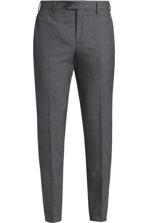Brunello Cucinelli Men's Lightweight Virgin Wool Flat Front Trousers - - Size 56 (40)