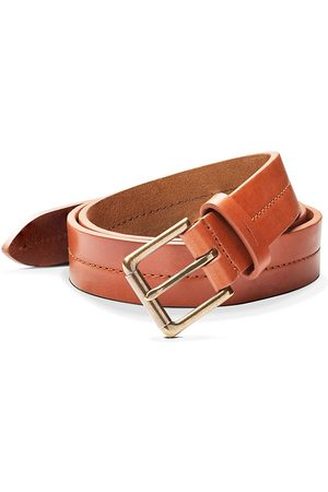 SHINOLA Men's Metallic Buckle Leather Belt - - Size 42