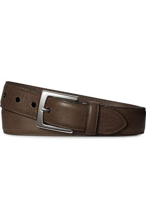 SHINOLA Men's Bedrock Leather Belt - - Size 38