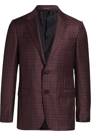 Ermenegildo Zegna Men's Check Plaid Italian Wool Sportscoat - - Size 56 (46) L
