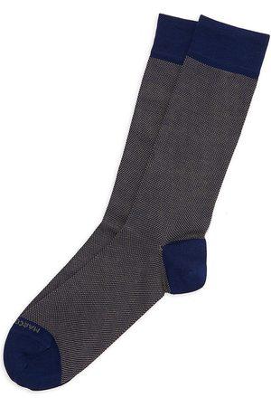 Marcoliani Men's Cotton-Blend Dress Socks
