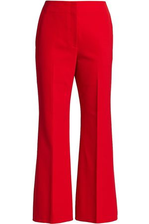 Proenza Schouler Women's Technical Wool Suiting Cropped Flare Pants - - Size 10