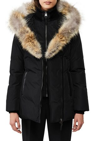 Mackage Women's Adali Coyote Fur-Trim Coat - - Size Large