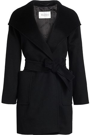 Max Mara Women's Rialto Hooded Wool Wrap Jacket - - Size 12