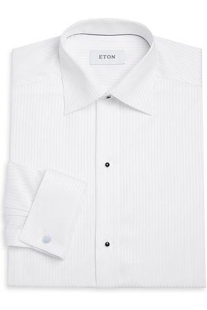 Eton Men's Contemporary-Fit Satin Stripe Formal Shirt - - Size 17.5