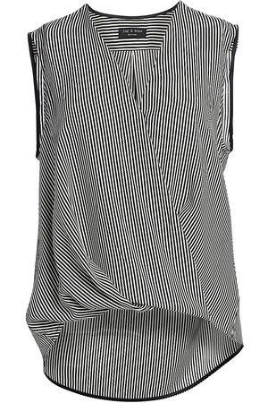 RAG&BONE Women's Victor Stripe Sleeveless Chiffon Blouse - - Size Small