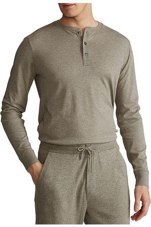 Polo Ralph Lauren Men's Long-Sleeve Cotton Henley T-Shirt - - Size XL