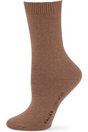 Falke Women's Cosy Wool Socks - Jasper - Size 8