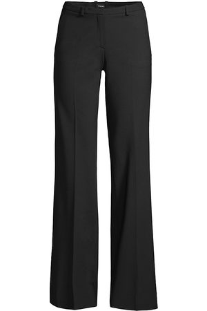 THEORY Women's Demitria Wool Flare Pants - - Size 8