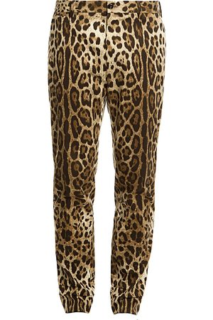 Dolce & Gabbana Men's Cropped -Print Pants - - Size 54 (38)